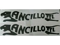 LAMBRETTA ANCILLOTTI  BLACK  LOGO STICKER SX,GP.LI.TV