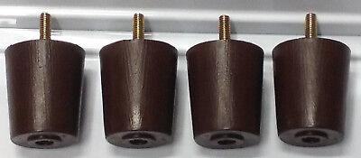 Round Brown Plastic Furniture Feet Chair Sofa 4 Legs 2.5 tall #0250 FREE SHIP