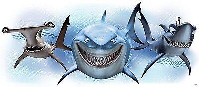 Disney Finding Nemo Wall - DISNEY FINDING NEMO SHARKS Giant Wall Decals Ocean Fish Room Decor Stickers 2558