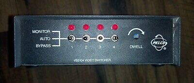 Pelco Vs5104 Video Cctv Security Monitor Switcher Bnc Connection - Powers On