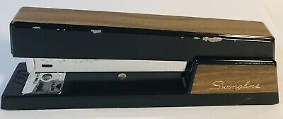 Vintage Swingline 767 Metal Desk Office Stapler Black Retro Wood Grain Ny Usa