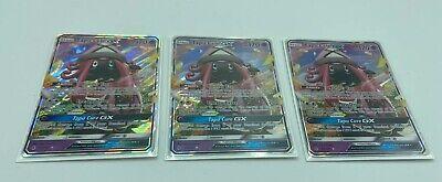 Pokemon Tapu Lele GX X3 Playset 60/145 LP Guardians Rising