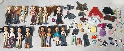 Rare Lil' Bratz Mini Doll Lot Of 15 Chloe Sasha Yasmin Jade Meygan + Clothes