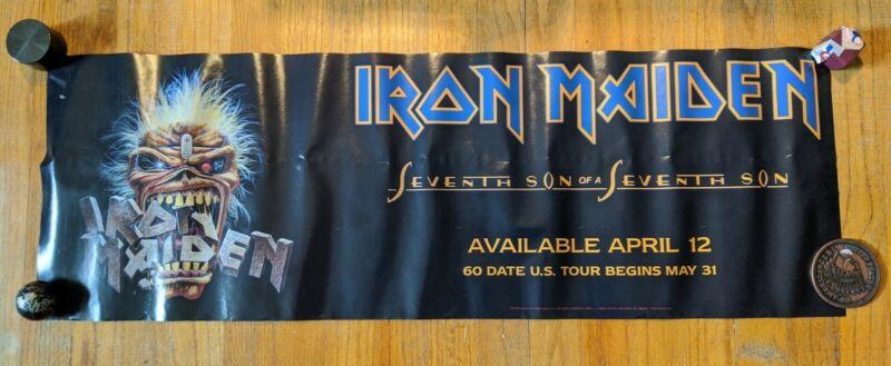 Iron Maiden Seventh Son of a Seventh Son Promo 1988 Tour Original Poster 12x36