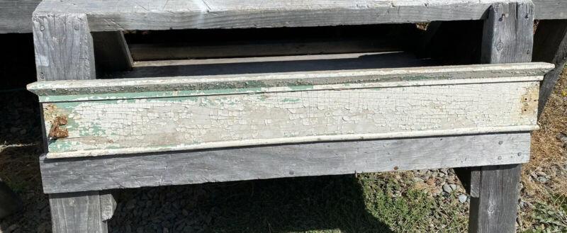 "Antique Window Pediment 36"" ~ Shabby, Square Head Nails, Architectural Element"