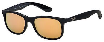 Ray-Ban Junior Sunglasses RJ 9062S 70132Y 48 Black | Copper Mirror Lens