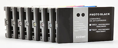 8X220 UltraChrome K3 Pigment Compatible Ink Cartridge for Epson Stylus 7880/9880 (9880 Ultrachrome K3 Ink)