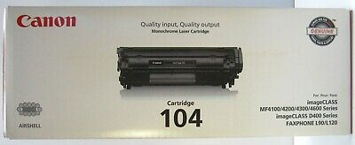 Canon Genuine 104 Black Toner Laser Cartridge image Class MF 4100,4200,4300,4600, used for sale  Shipping to India