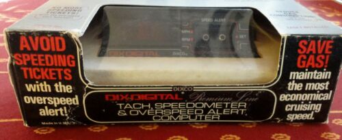 1981 New Dixson Dixco Digital Vehicle Instrument Model 2007 Tach Overspeed Alert