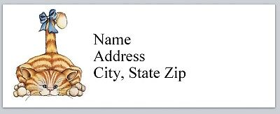 Personalized Address Labels Primitive Country Tabby Cat Buy 3 Get 1 Free P 620