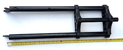 """New 26 x 4.0 Triple Tree Fat Sand Snow Bike Fork 1"""" threadless w/Disc Tab Black"""