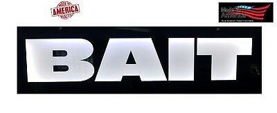 Bait Signled Light Box Sign  10x36x1.75