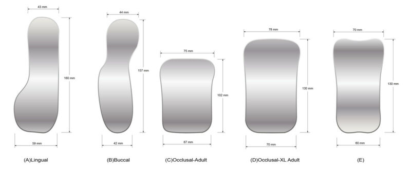 Dental Orthodontic Intraoral Photographic 2sided Rhodium Glass Mirrors 5pcs/kit