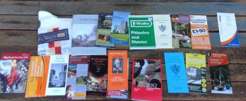 Lot of UK Travel Books and Brochures