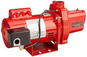 NEW Red Lion RJS-100-PREM 602208 Premium Cast Iron Shallow Well Jet Pump Condition: New