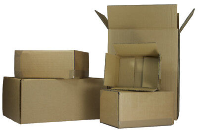 400 x Corrugated Cardboard POSTAL BOXES for SUNGLASSES 152 x 125 x 50mm SW652