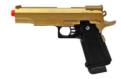G6 Galaxy Airsoft Spring Pistol Colt 1911 Replica M1911 Metal Gun 340 FPS Gold
