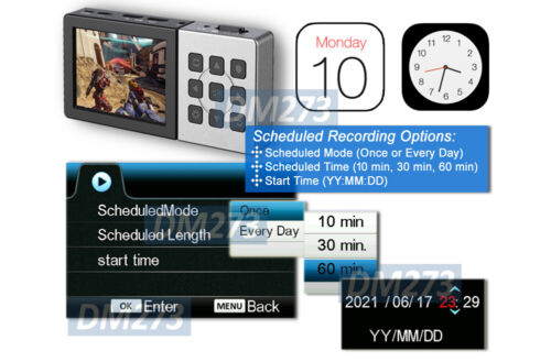 "Premium HDMI 1080P Recorder MP4 Player W/ IR Remote Timer Recording 3.5"" Screen"