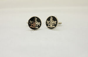 James BOND 007 SKYFALL Cufflinks Family Crest Orbis Non Sufficit Brass version
