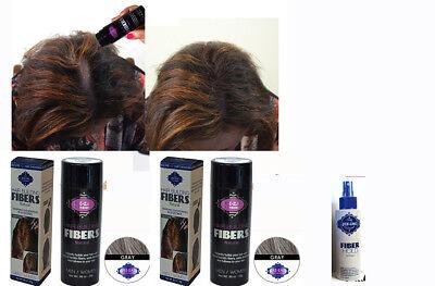 Piz-zaz  Natural  Hair Fibers Color Grey+Hold Spray Piz Zaz + Briliance Comb, used for sale  Shipping to India