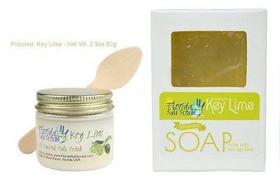 Florida Salt Scrubs Key Lime Soap and Scrub Sampler Pack 2 Pack