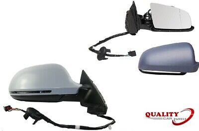 OS Driver Side Right Door Wing Mirror Electric Heated Primed 5 Wire 6 PIN Plug