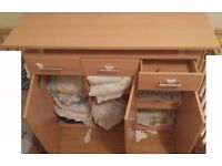 Sideboard cupboard wardrobe type unit - from Lidl - good condition - 2 years old - oak effect