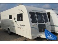 BAILEY OLYMPUS 504 2010 *DOUBLE DINETTE/FIXED BED*AWNING* 4 BERTH CARAVAN