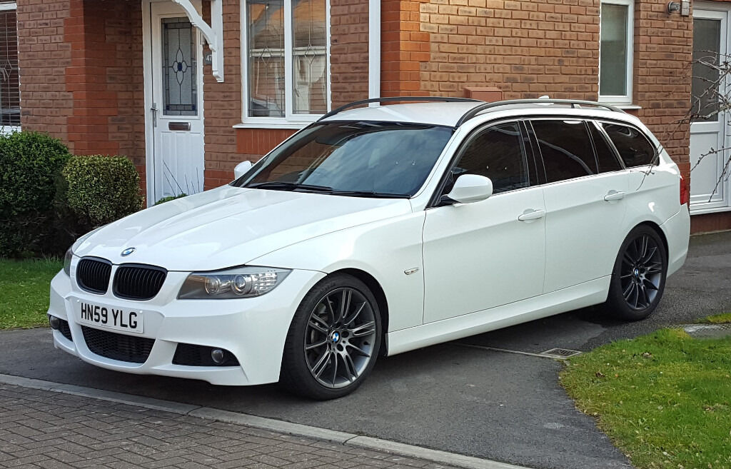bmw 3 series 3 0 335d m sport touring 5dr white in. Black Bedroom Furniture Sets. Home Design Ideas