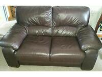 Double leather sofa ( reduced price for quick sale )