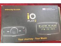 IO play2 Bluetooth handsfree car kit with music streaming, iPod lea