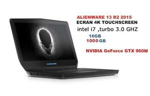 ALIENWARE 13'' R2 Gaming with 4K TouchScreen Intel i7 Turbo 3.0 GHZ 16GB, 1TB HDD,GeForce GTX 960M
