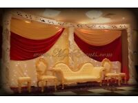 Royal Chair Hire £199 Star Backdrop Rent Chiavari Chairs Gold £2.20 Flower centrepiece Hire £19.99