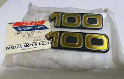 Yamaha DX100 YB100 Emblem Side Cover  GENUINE NOS P/N 2N3-21786-01/ 1pair for sale  Shipping to Canada