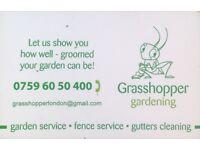 GRASSHOPPER GARDENING... Gardener... Garden maintenance... Garden service...