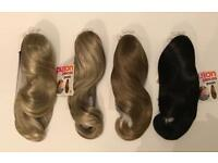 Hair extension ponytails x77 brand new in box job lot clearance whole sale stock.