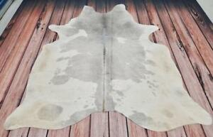 Grey And White Cowhide Rug Brazilian Real, Natural, Soft, Smooth, Free Shipping Canada Wide.