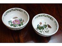 Large Pair of Vintage Portmeirion Botanic Garden Fruit Bowls.