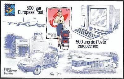 Belgium**500 Years EUROPEAN POST-SHEET-2001-MAIL SORTING & DISTRIBUTION-MNH