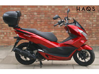 Honda PCX 125 (15 REG) in red, One owner, , ONLY 300 miles on the clock!