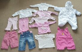 Baby Girl bundle clothes job lot 3-6 months 12 items all in one
