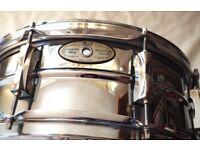 Pearl Custom Alloy Sensitone Steel Snare For Sale