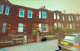 Large one bed sandstone flat Fullarton Street Kilmarnock. KA1 2JL