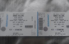 Robbie Williams Tickets Aviva Dublin 17 June
