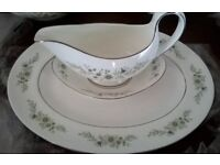 WEDGEWOOD WESTBURY 6 Place Dinner Service Fine Bone China Gravy Boat & saucer,Meat Platter,Tureens.