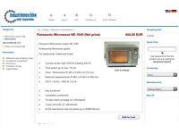 Commercial Panasonic microwave