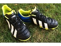 GREAT ADIDAS MI RUGBY FOOTBALL BOOTS SIZE 6 SIX LEAGUE UNION VGC 8 STUD LACE UP CUSTOM DESIGN