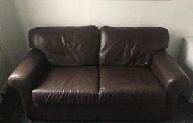 Free IKEA brown leather sofa