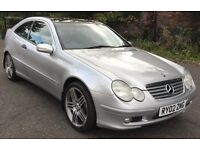 "2002 MERCEDES C180 SPORTS COUPE , 18"" AMG ALLOYS, GREAT CONDITION, DRIVE AWAY"