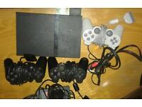 2 DAYS ONLY SLIMLINE PS2, 13 X GAMES ALL LEADS